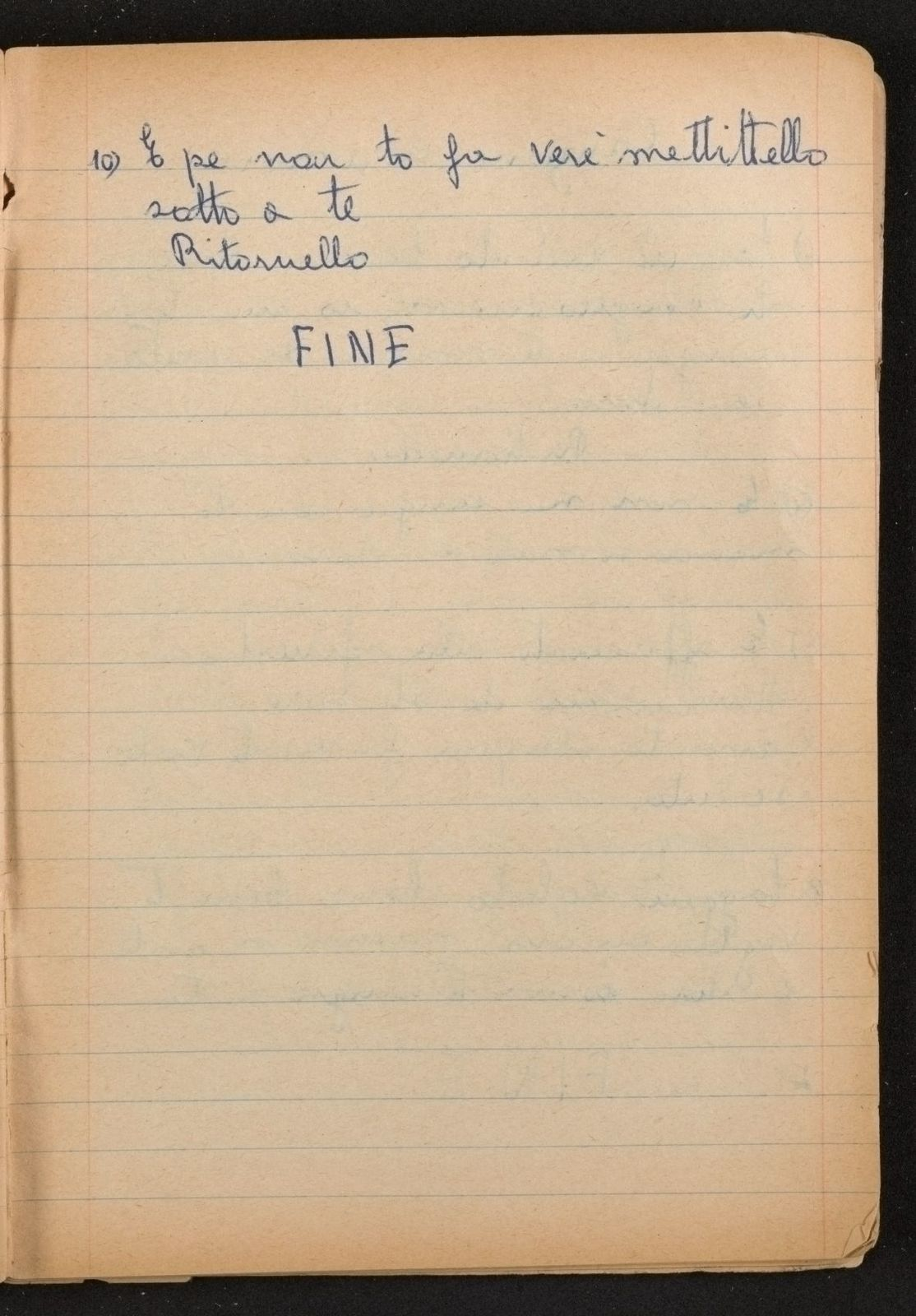 Alan Lomax Collection, Manuscripts, Italy, 1954-1955