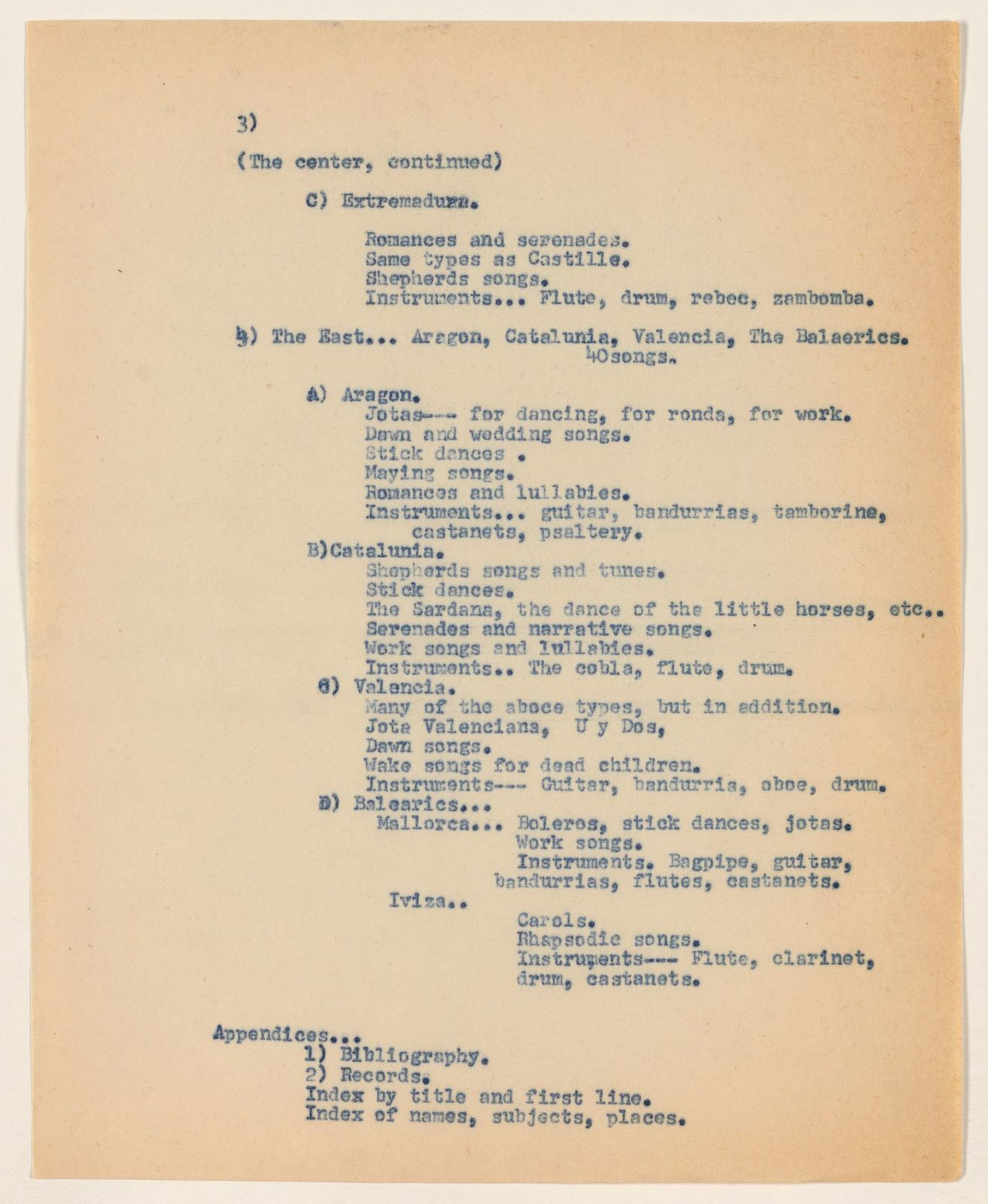 Alan Lomax Collection, Manuscripts, Spain, 1952-1953