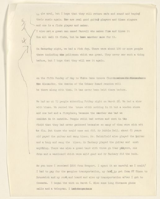 Alan Lomax Collection, Manuscripts, St. Simons Island, GA, 1961-1974