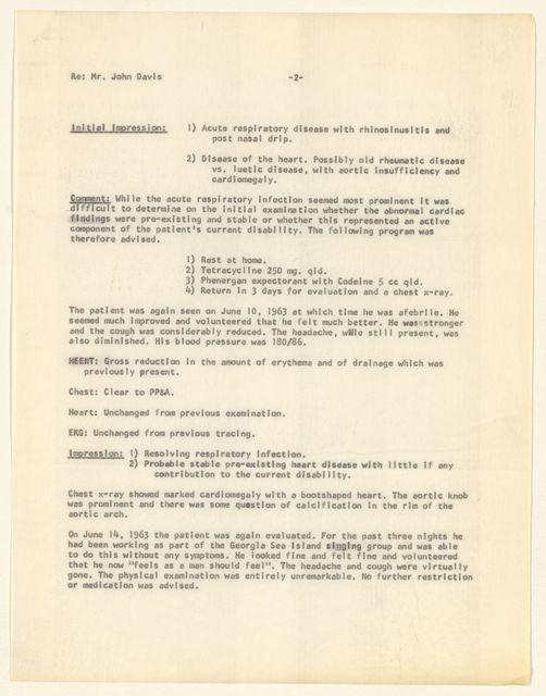 Alan Lomax Collection, Manuscripts, St. Simons Island, GA, 1961-1974