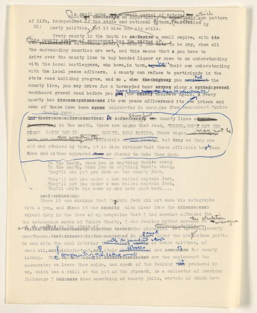 Alan Lomax Collection, Manuscripts, The Land Where the Blues Began, 1993; Rainbow Sign, 1959