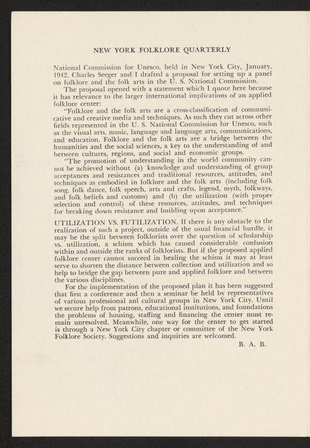 Alan Lomax Collection, Manuscripts, Various articles