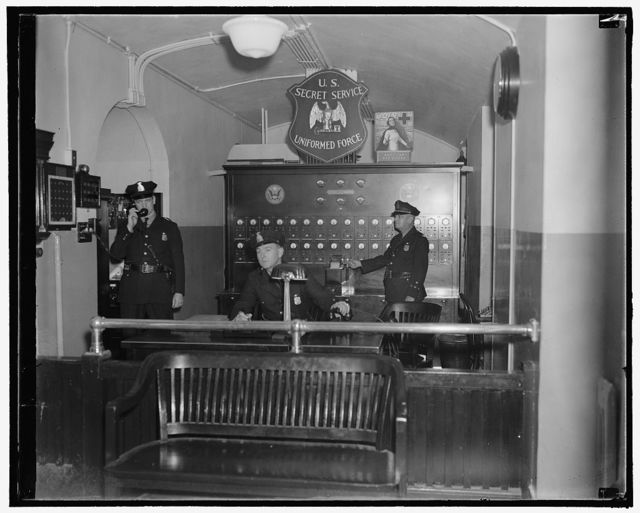 Alarm system of the Treasury Dept., Secret Service, 10/38
