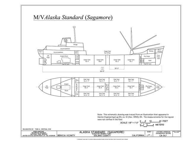 Alaska Standard, Suisun Bay Reserve Fleet, Benicia, Solano County, CA