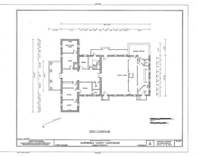 Albemarle County Courthouse, Court Square, Charlottesville, Charlottesville, VA