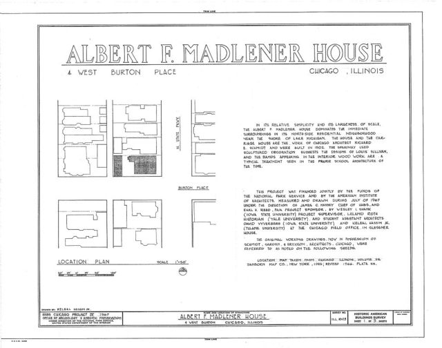 Albert F. Madlener House, 4 West Burton Place, Chicago, Cook County, IL