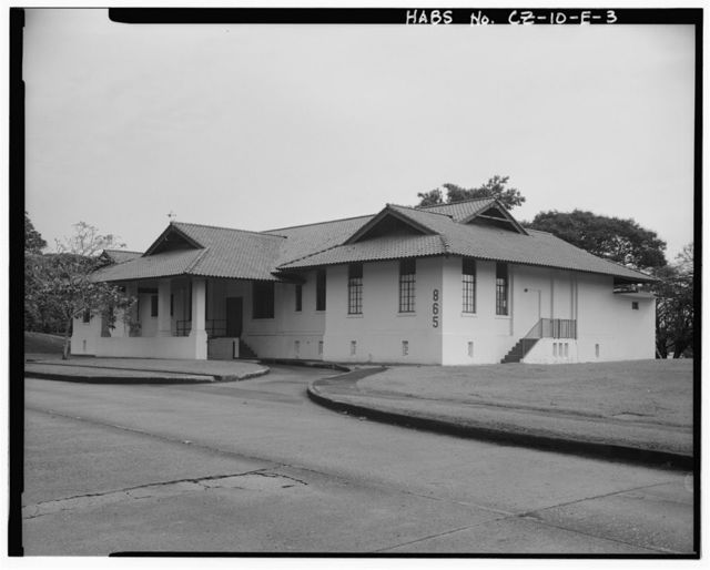 Albrook Air Force Station, Dispensary, East side of Canfield Avenue, Balboa, Former Panama Canal Zone, CZ