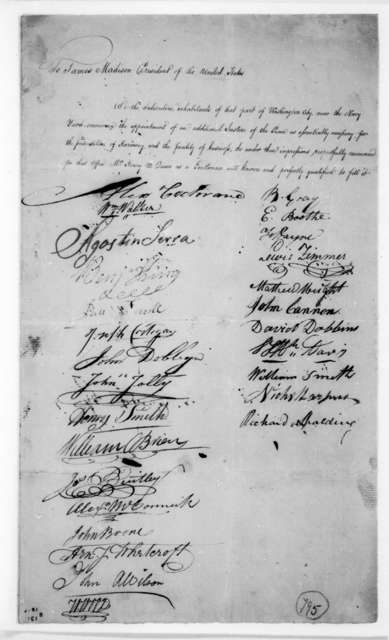 Alexander Cochrane to James Madison. Petition.