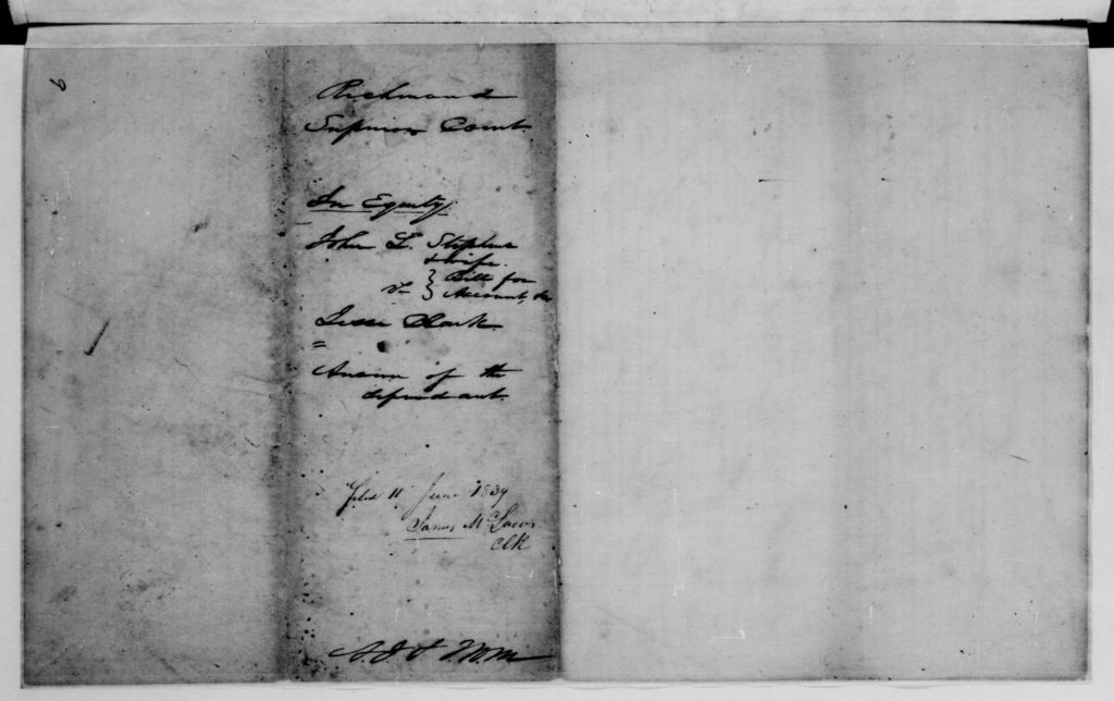 Alexander Hamilton Stephens Papers: General Correspondence, 1784-1886; 1784, May 17-1846, Aug. 18