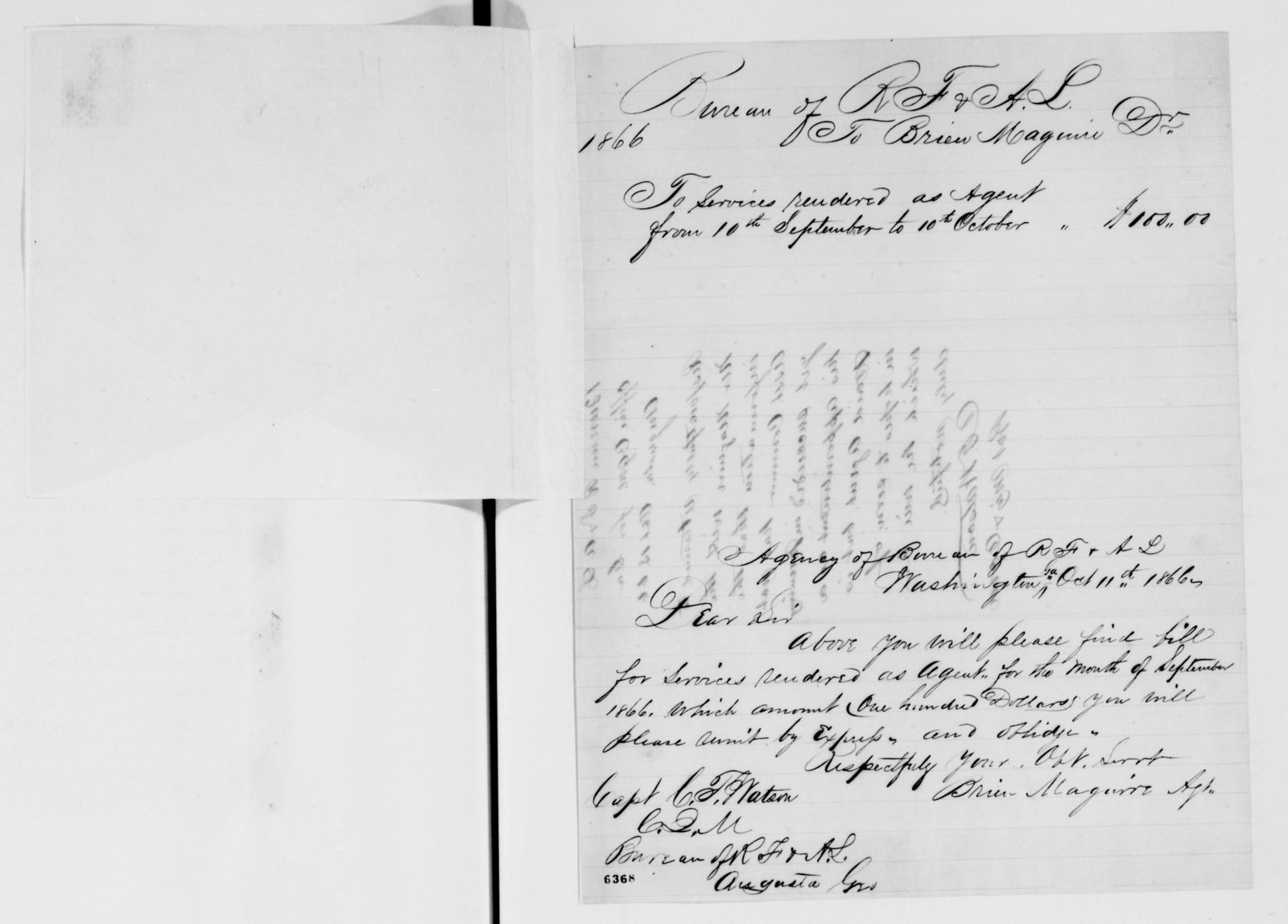 Alexander Hamilton Stephens Papers: General Correspondence, 1784-1886; 1866, Sept. 21-1867, Jan. 8