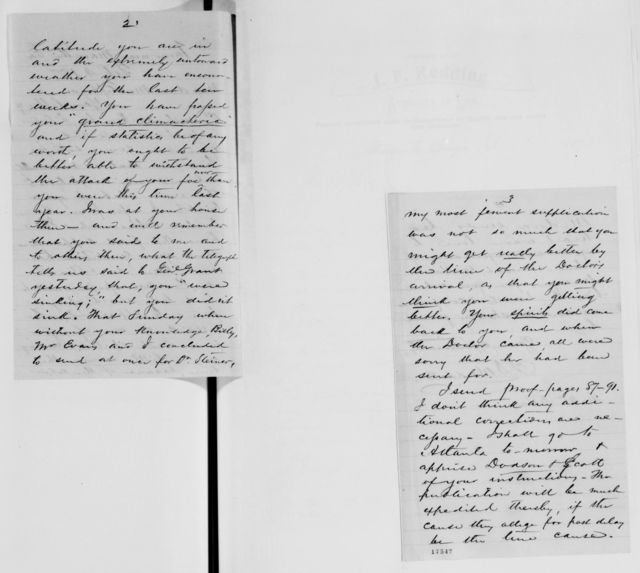 Alexander Hamilton Stephens Papers: General Correspondence, 1784-1886; 1876, Dec. 4-1877, Mar. 2