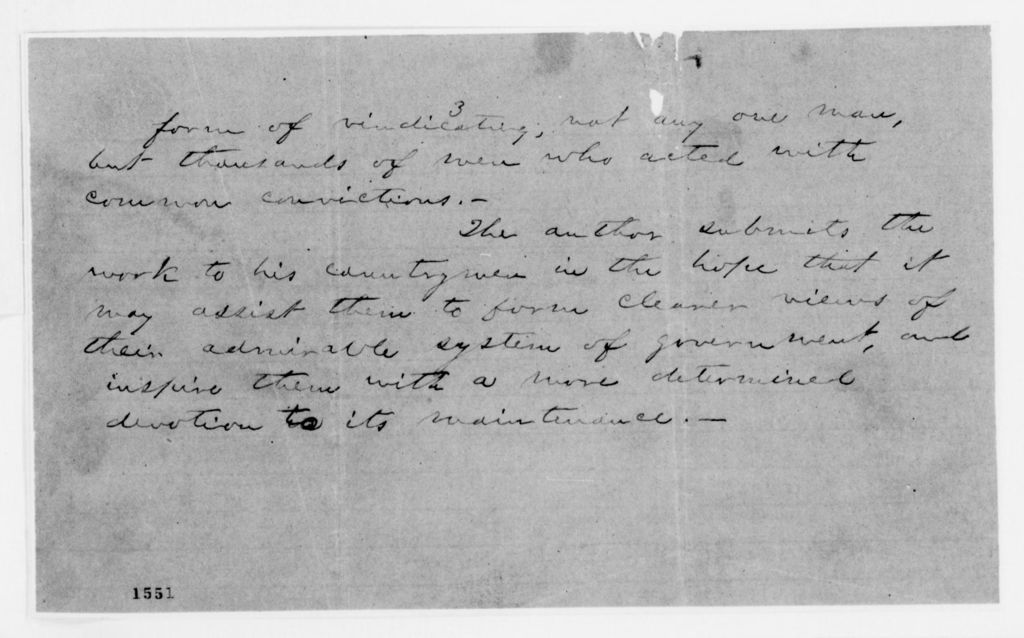 Alexander Hamilton Stephens Papers: General Correspondence, 1784-1886; Miscellaneous
