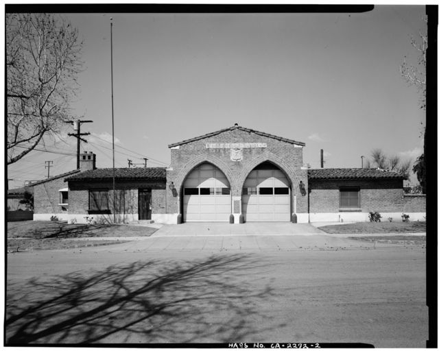 Alhambra Fire Station No. 4, 2505 West Norwood Place, Alhambra, Los Angeles County, CA