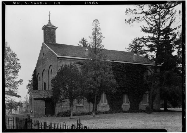 All Saints' Protestant Episcopal Church, State Routes 2 & 4, Sunderland, Calvert County, MD