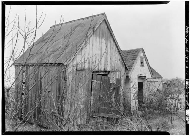 Allee House, Smokehouse, Adjoining Bombay Hook Wildlife Refuge, Smyrna, Kent County, DE