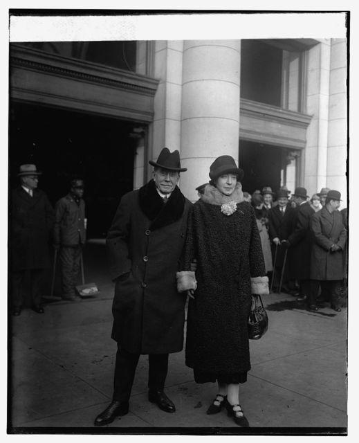 Amb. & Mme. Henri Berenger, 1/14/26