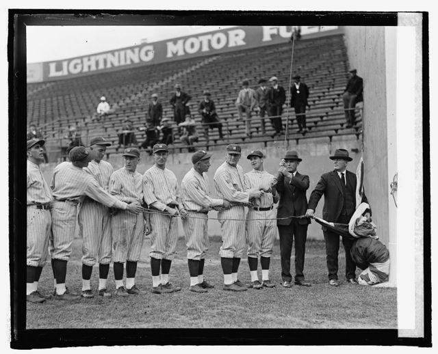 American League Pennant raising [at ball park] May 1, 1925