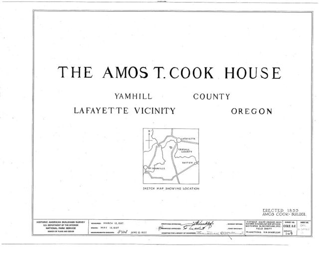 Amos T. Cook House, Lafayette, Yamhill County, OR