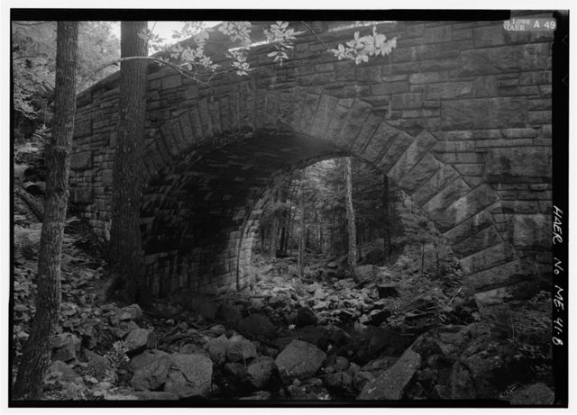 Amphitheater Bridge, Spanning Little Harbor Brook on Amphitheater Road, Seal Harbor, Hancock County, ME