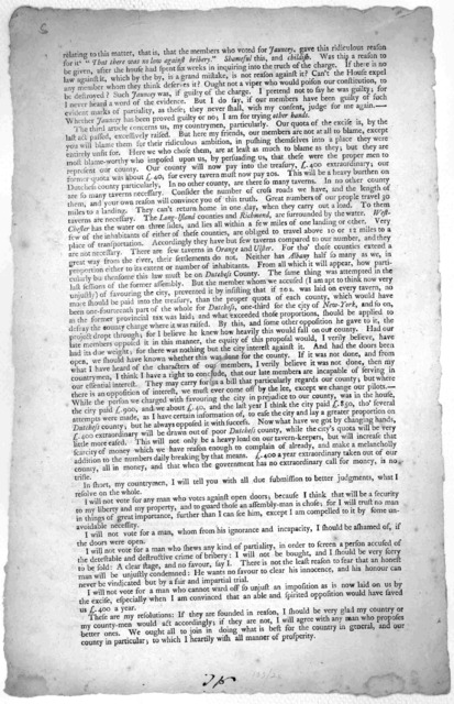 An Address to the freeholders of Dutchess County. By a fellow-freeholder and inhabitant. Friends and countrymen ... [n. d.].