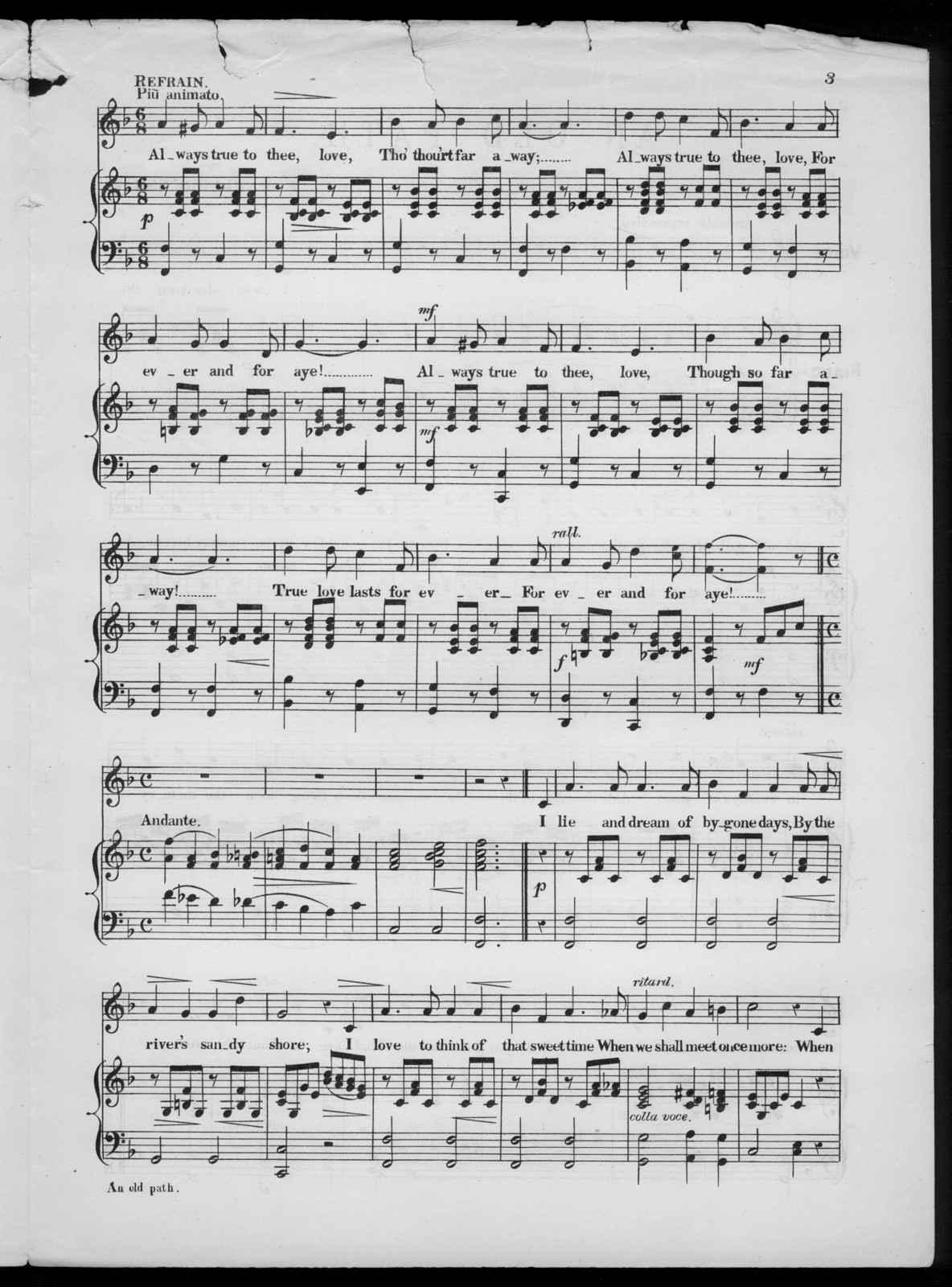 An  old path waltz song