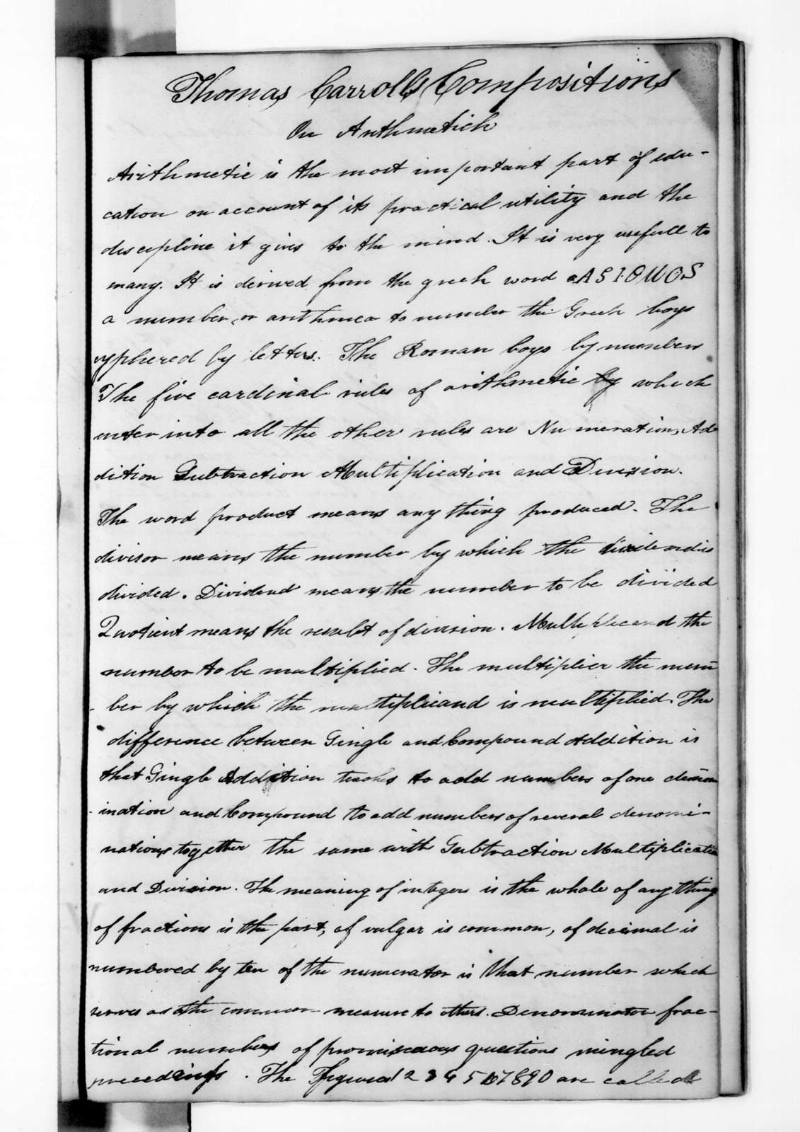 Andrew Jackson - Record Books - Jackson Order Book during the Creek Indian War, Florida, 1812-1813