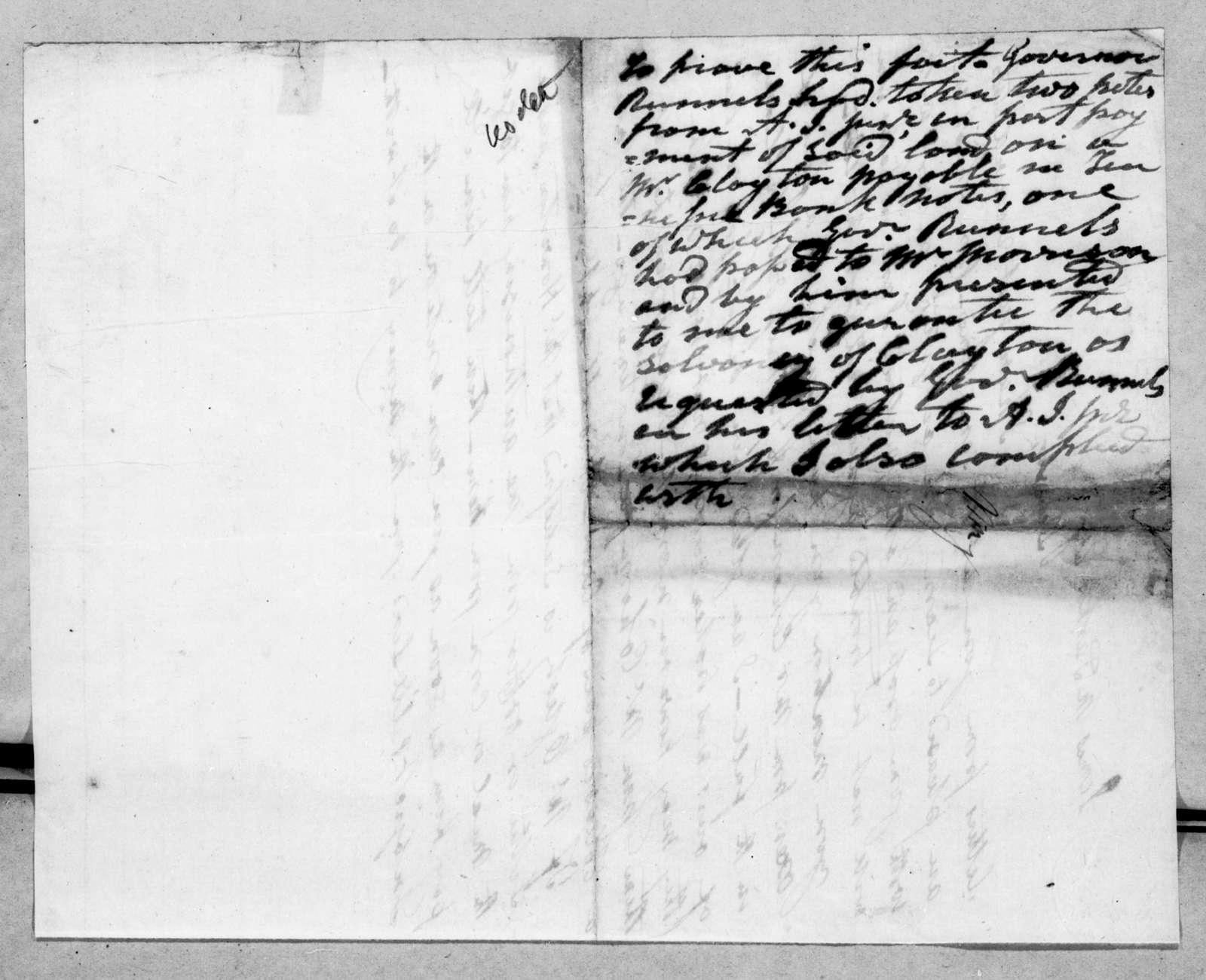 Andrew Jackson to James M. Jackson
