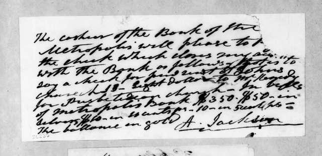 Andrew Jackson to Metropolis Bank
