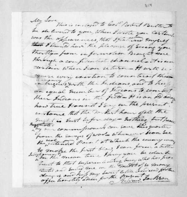 Andrew Jackson to Rachel Jackson