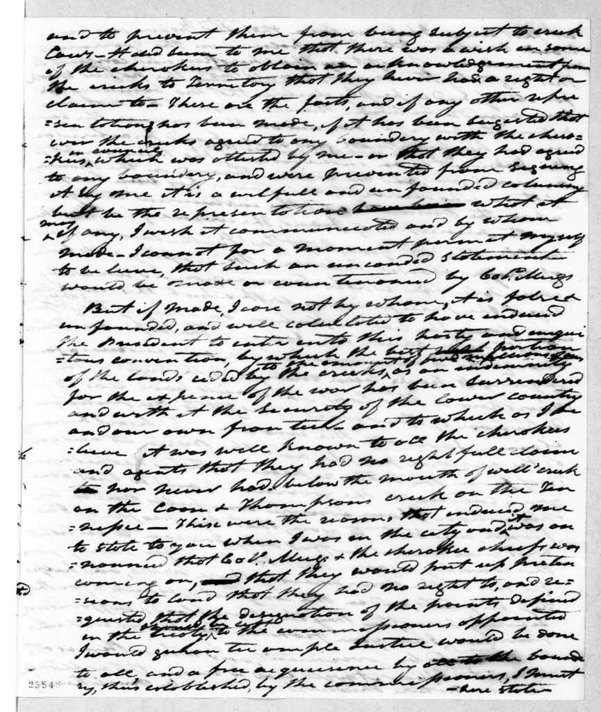 Andrew Jackson to William Crawford