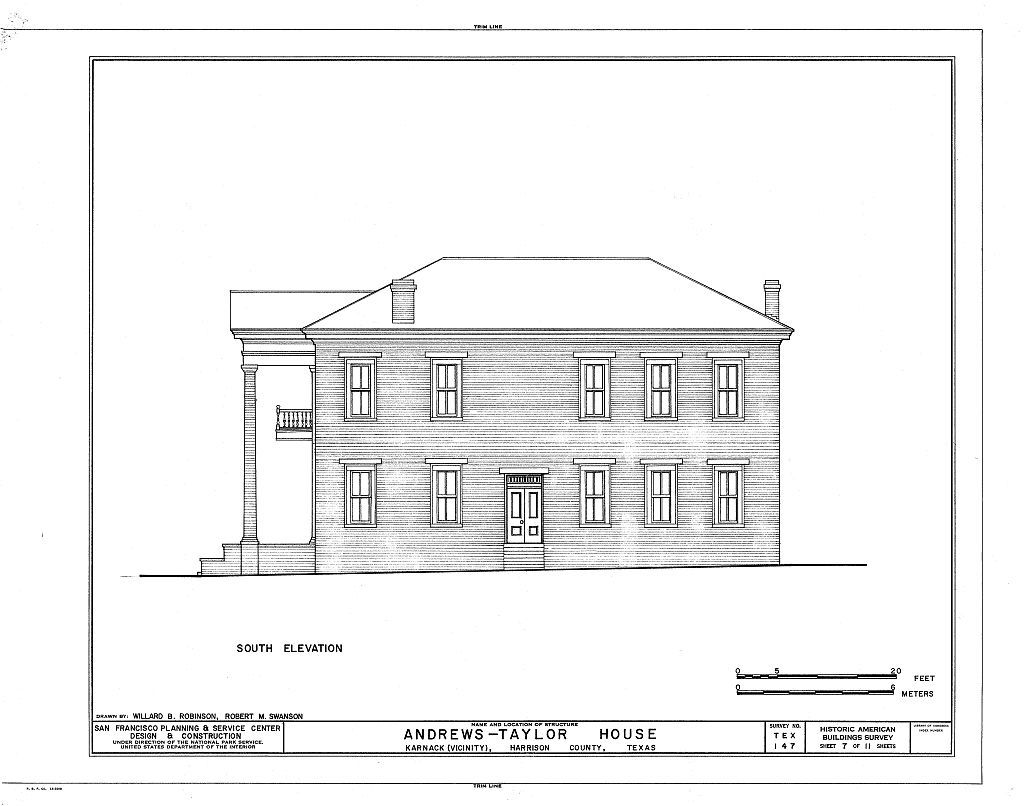 Andrews-Taylor House, State Route 43, Farm Road 2862 Vicinity, Karnack, Harrison County, TX