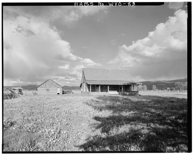 Andy Chambers Homestead, 0.4 mile south of Antelope Flats Road on the east side of Mormon Row Road, Kelly, Teton County, WY