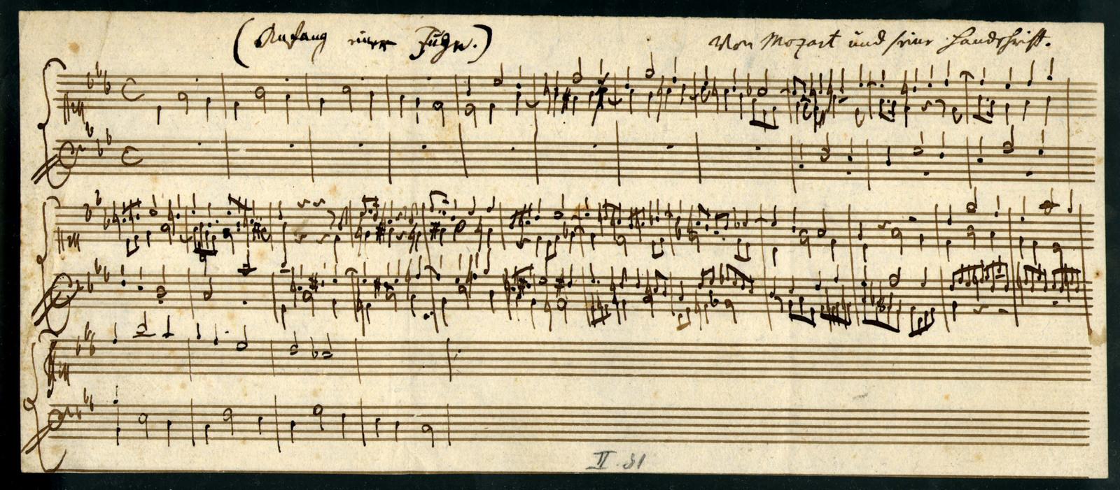 Anfang einer Fuge [Fragment of Fugue in C Minor, K. 626b/27]
