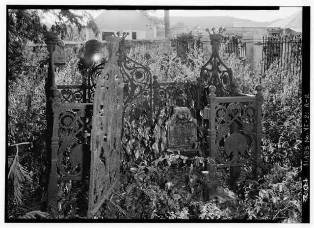 Anglican Church, Grave Fence, 27 King Street, Christiansted, St. Croix, VI