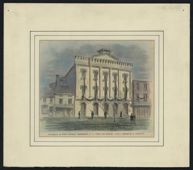 Appearance of Ford's Theatre, Washington, D. C., after the murder.