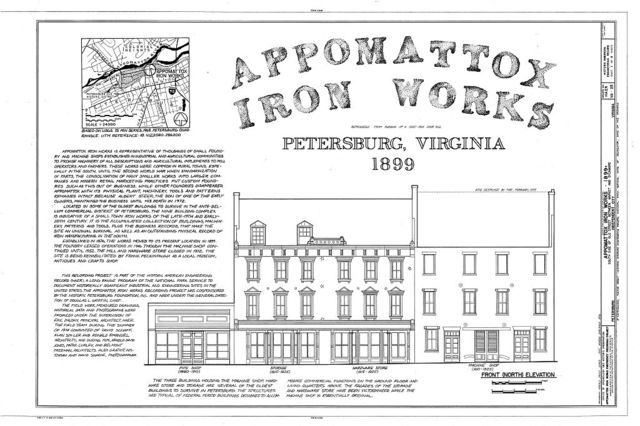 Appomattox Iron Works, 20-28 Old Street, Petersburg, Petersburg, VA