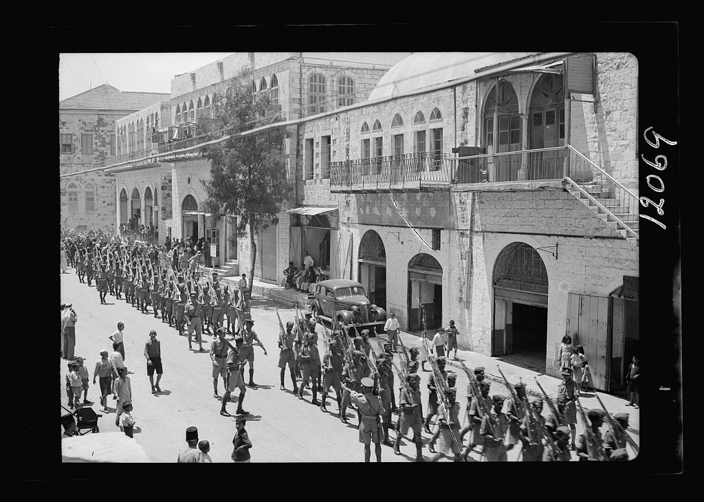 Arab recruits in Nablus, May 6, '41