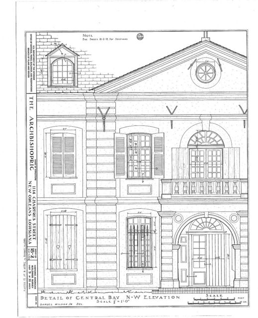 Archbishopric, 1114 Chartres Street, New Orleans, Orleans Parish, LA