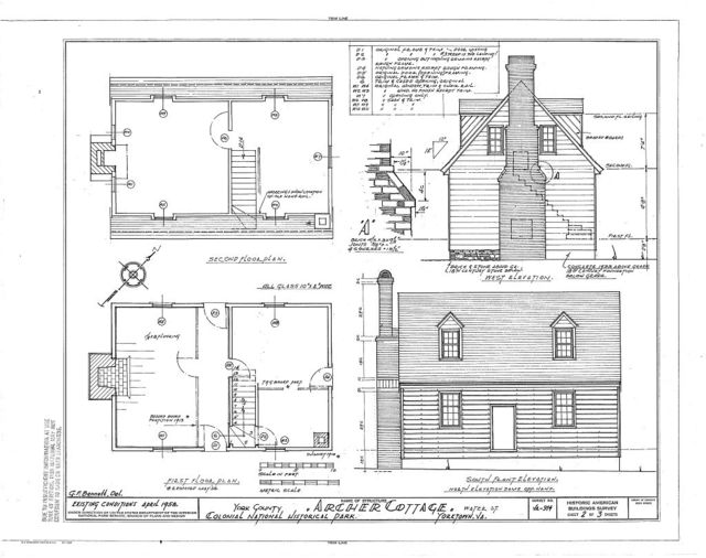Archer House, Lot No. 123, Water Street, Yorktown, York County, VA