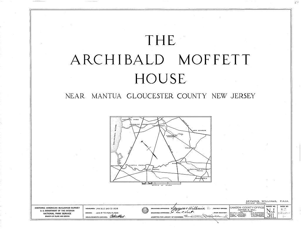 Archibald Moffett House, Mantua, Gloucester County, NJ
