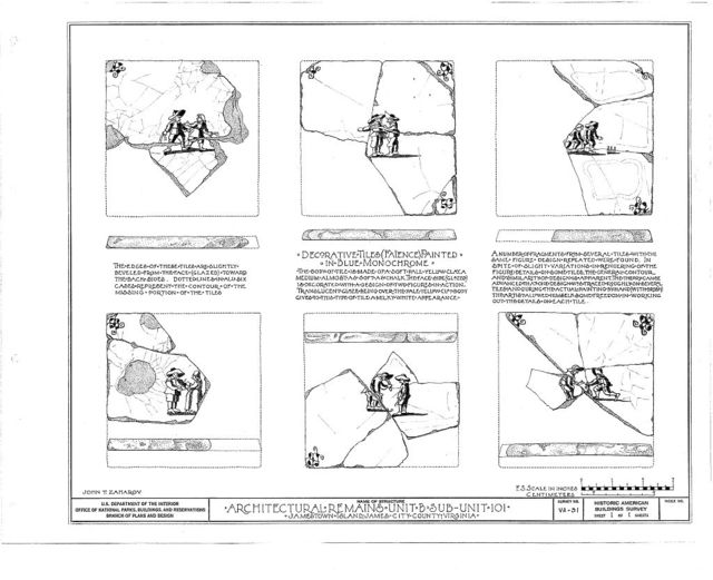 Architectural Remains, Unit B, Sub-unit 101, Jamestown, James City County, VA
