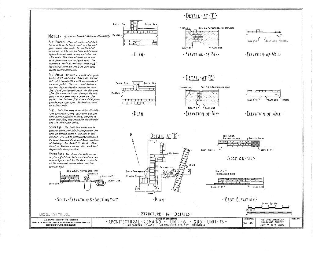 Architectural Remains, Unit B, Sub-unit 76, Jamestown, James City County, VA