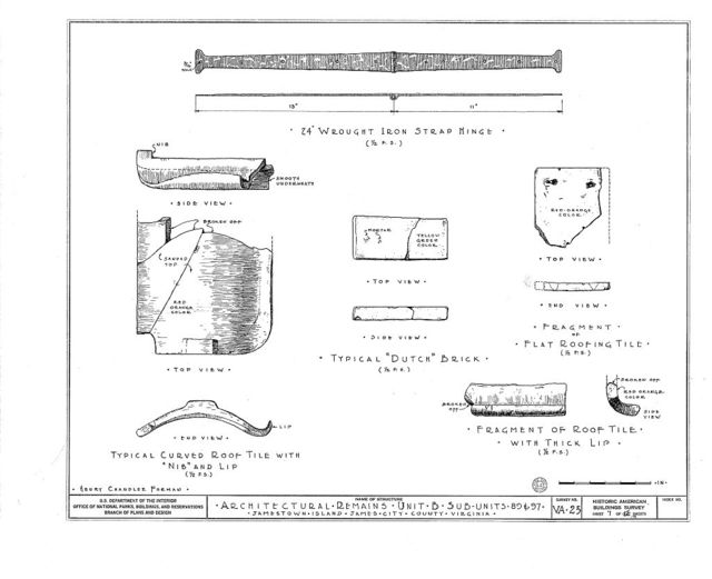 Architectural Remains, Unit B, Sub-units 89 & 97, Jamestown, James City County, VA