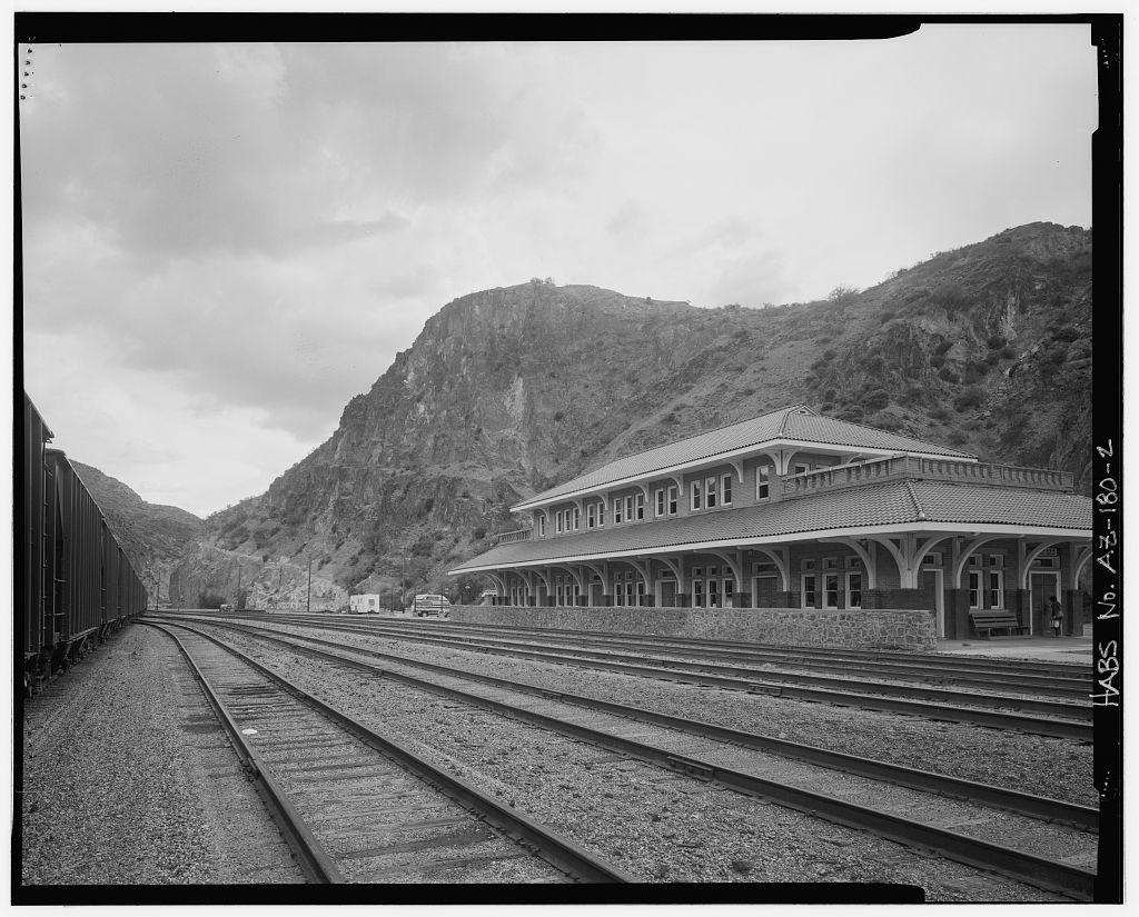 Arizona & New Mexico Railroad Passenger Station, Coronado Boulevard, Clifton, Greenlee County, AZ