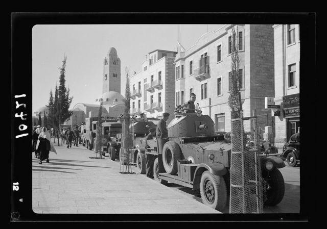 Armoured cars on Julian Way, Jerusalem