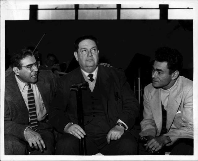 Arthur Berger, Darius Milhaud, Izler Solomon, Brandeis, 1955