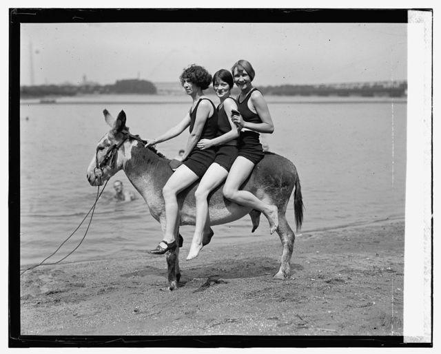 At Arlington Beach, Hazel Watson, Eleanor Howell and Marjie Peacock, 7/30/24