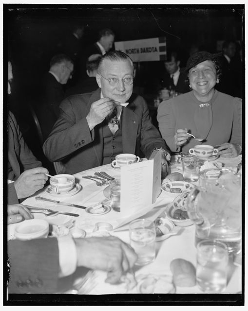 At Governors' luncheon. Washington, D.C. Governor Martin L. Davey, of Ohio, as he attended the housing luncheon for state Governors today at the Mayflower Hotel