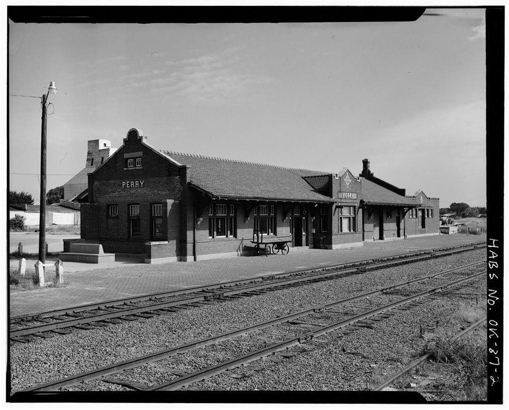 Atchison, Topeka, Santa Fe Railroad Station, Perry, Noble County, OK