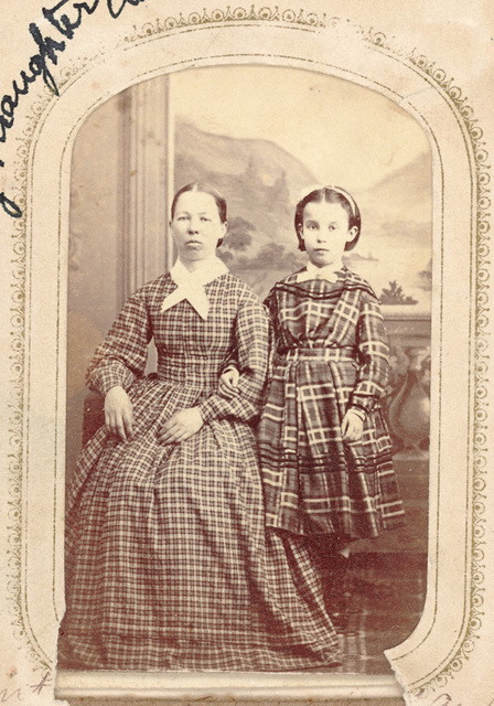 """Aunt Sarah Murray & daughter Addie"""